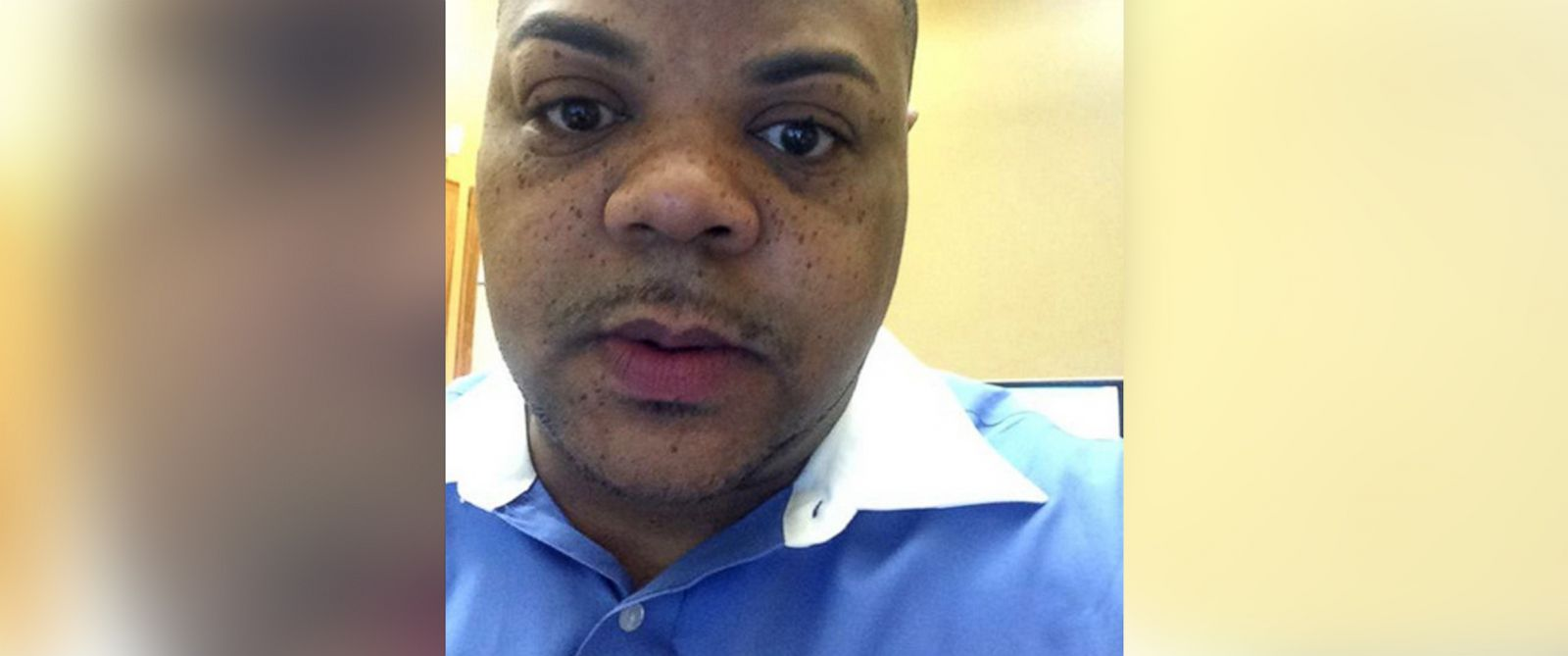 """PHOTO: This image was posted to Vester Flanagans Twitter account under his on-air name """"Bryce Williams"""" on Aug. 19, 2015 with the text, """"While at a workers comp company in Roanoke, Va."""""""