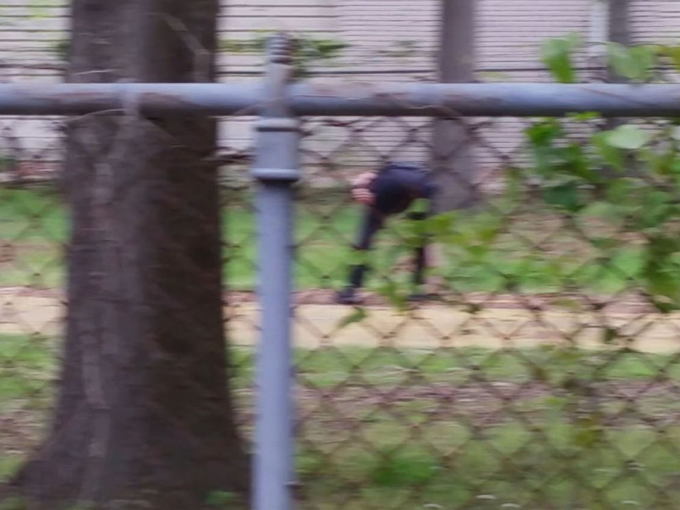 PHOTO: A sequence of images made from a bystander video shows Officer Michael Slager pursuing and then shooting Walter Scott in North Charleston, S.C. on April 4, 2015. Note: This image has been rotated 90-degrees from the source video.