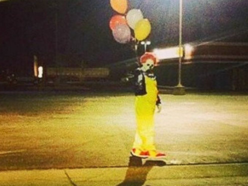 PHOTO: This photo was posted to the Wasco Clown instagram account on Oct. 7, 2014 with the caption, Just thought you all should know Im not the only one out there.