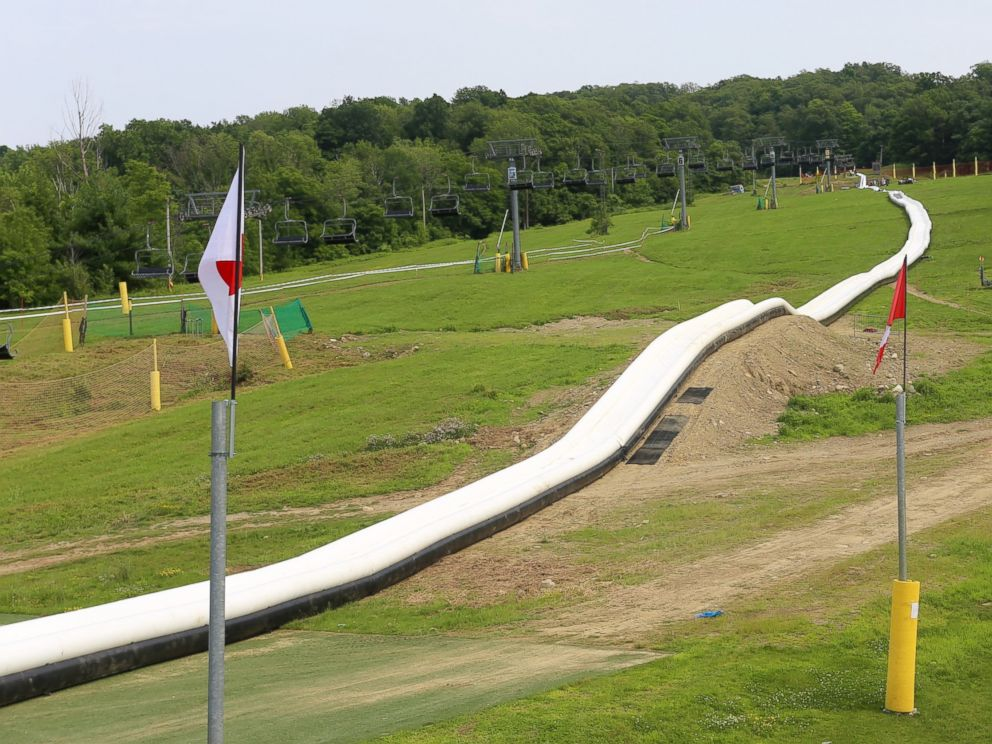 PHOTO: The worlds longest inflatable waterslide is seen in thus undated handout photo.