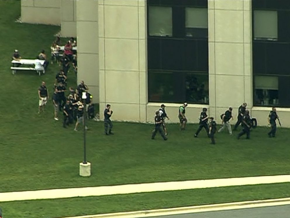 PHOTO: The scene at Walter Reed National Military Medical Center in Bethesda, Maryland, July 6, 2015.