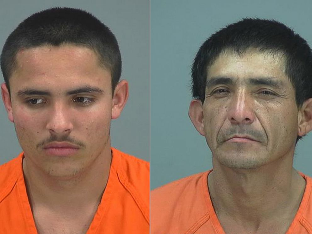 PHOTO: Juan Aguilar-Zavala, left, and Mario Perez-Pa, right, are pictured in their booking photos.