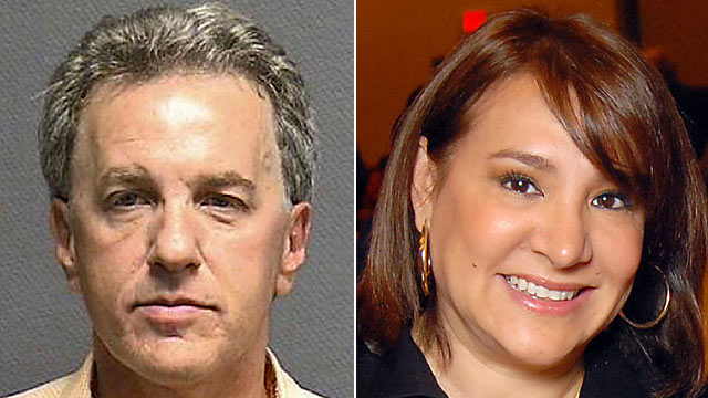 PHOTO: Houston attorney Jeffrey Stern, left, was indicted in an alleged plot to murder his wife, Yvonne Stern, shown right, but shes standing by him.