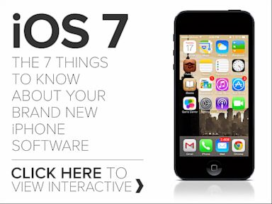 PHOTO: Hover over the icons in this infographic to find details about the changes in the seven main features of iOS7 for iPhone and iPad.