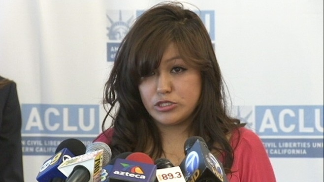 VIDEO: Isaura Garcia was arrested in an incident of suspected domestic violence.