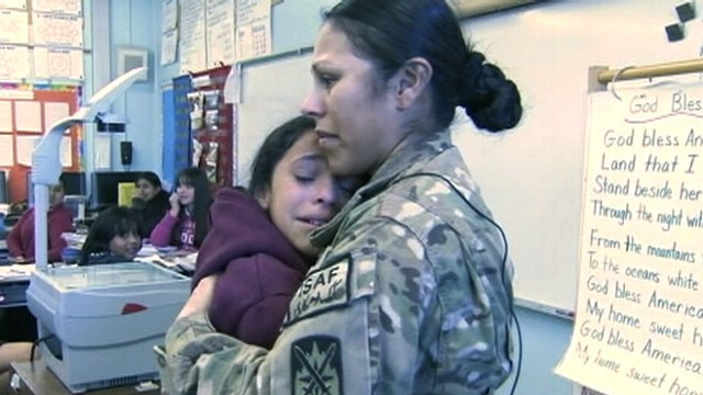VIDEO: U.S. Army Specialist Veronica Velasquez was reunited with family while on leave from Afghanistan.