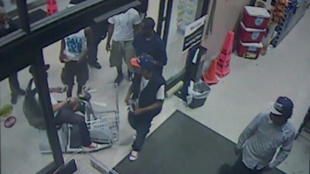 VIDEO: Mob of 30 to 40 teenagers steal items and trash store after drinking at a party.
