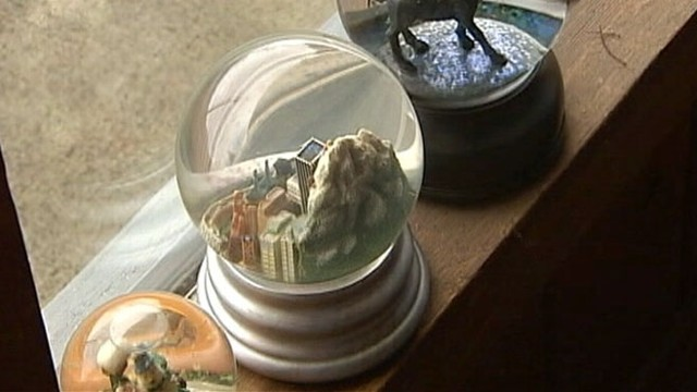 VIDEO: Suns rays were magnified by the snow globe, burning Ken Gambells couch.