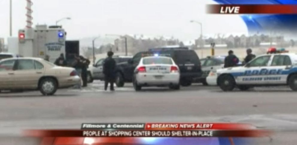 PHOTO: An image made from KKTV video shows police responding to an active shooter situation in Colorado Springs, Co., Nov. 27, 2015.