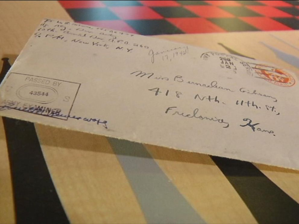 PHOTO: World War II veteran Bill Moore received a long-lost love letter he wrote to his future-wife, Bernadean, 70 years ago.