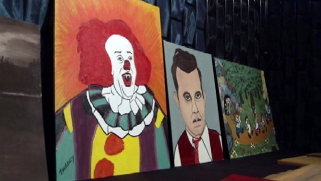 john wayne gacy artwork for sale. VIDEO: John Wayne Gacy#39;s