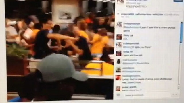 VIDEO: Dozens of high school students got into a food fight at a San Antonio Whataburger after a game.