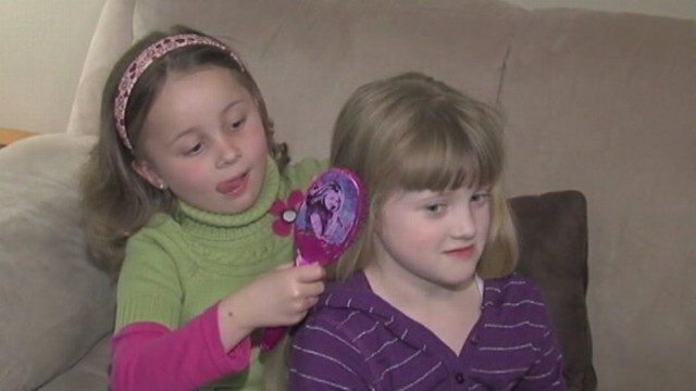 VIDEO: Oklahoma girl grows her hair in show of support for friend battling leukemia.