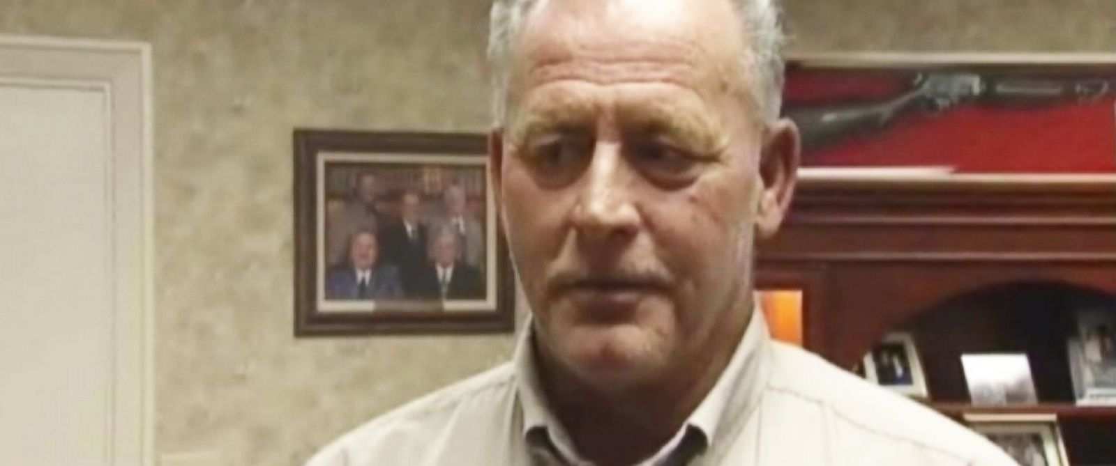 PHOTO: Robert Pruett, the City Administrator of Galena Park, refuses to leave the City Hall building after being fired.