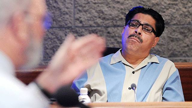 PHOTO: Xavier Alvarez is seen in this file photo at a water district board meeting on October 15, 2008 in Claremont, Calif.; Alvarez was indicted in 2007 after he falsely claimed at a public meeting that he was a retired Marine who received the Medal of H