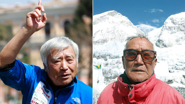 PHOTO: Yuichiro Miura and Min Bahadur Sherchan