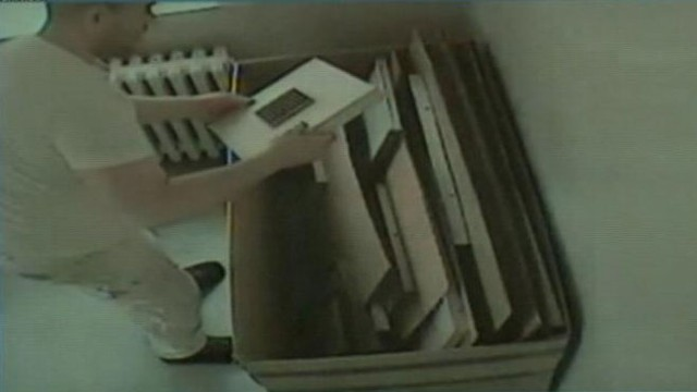 VIDEO: Joselito Vega, 42, was allegedly caught on tape taking art from the Schulhof Collection in Kings Point.