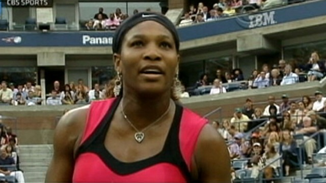 VIDEO: Serena Williams yelled at a U.S. Open official before losing to Samantha Stosur.
