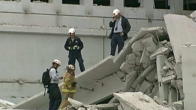 VIDEO: Rescue workers are looking for a fourth victim in the recovery effort at Miami-Dade college campus.