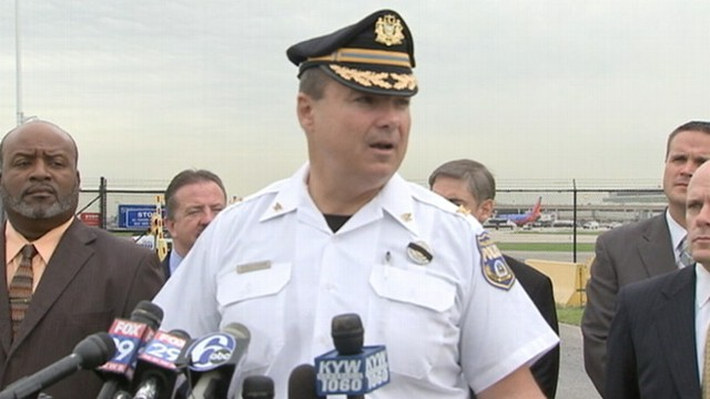 VIDEO: Philadelphia officials investigate threat of explosives on plane at airport.