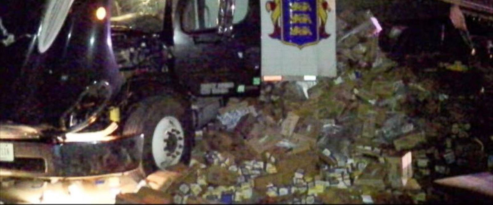 PHOTO: About 45,000 pounds of butter, whipped cream and other dairy products were splashed over an Indianapolis highway, creating a slippery mess.