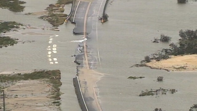 VIDEO: Parts of Highway 12 along Outer Banks, N.C. are damaged and covered in sand and water.