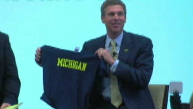 VIDEO: Athletic director David Brandon supports 5-year-old boy banned from wearing team T-shirt at school.