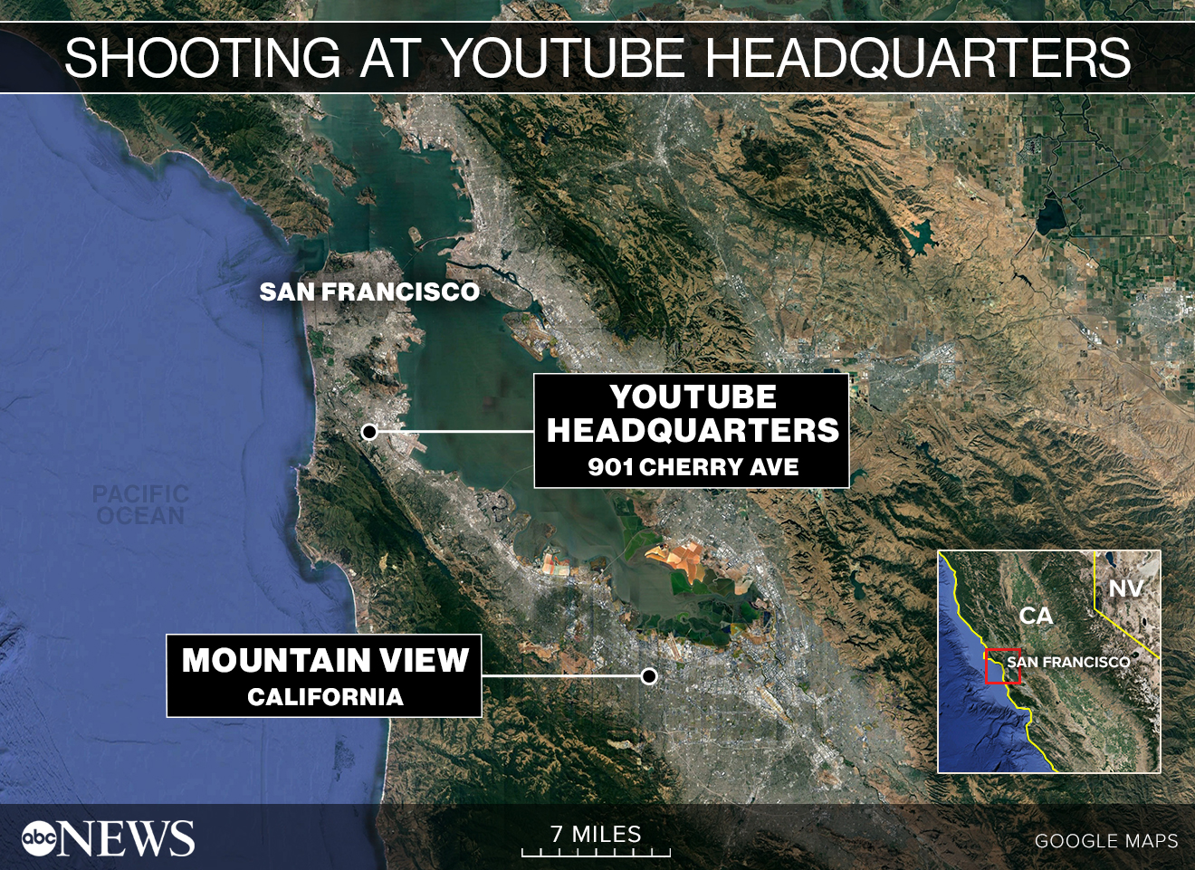 Police say 4 wounded at YouTube HQ shooting, suspect dead