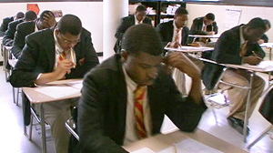 PHOTO All 107 seniors in the graduating class of Chicagos Urban Prep Academy were accepted at colleges across the country.