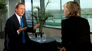 Diane Sawyer interviews David Cameron