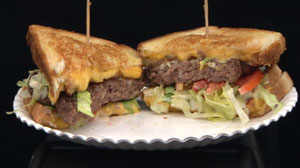 Friendlys Grilled Cheese Burger Melt