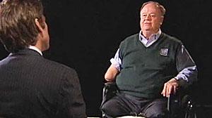 Photo: David Muir interviews former Senator Max Cleland.