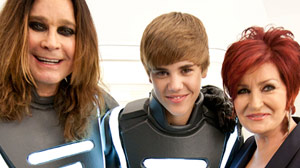 PHOTO Justin Bieber and the Osbournes are shown here.