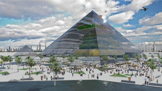 """PHOTO:Vertical """"Pyramid Farm"""""""