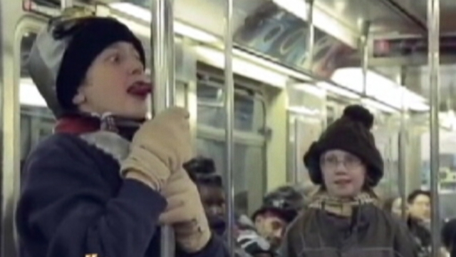 A Triple-Dog Dare on a Subway Car