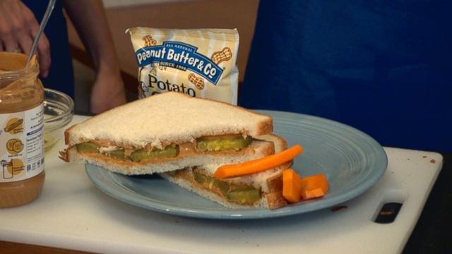 unique sandwich combines pickles and peanut butter video abc news. Black Bedroom Furniture Sets. Home Design Ideas