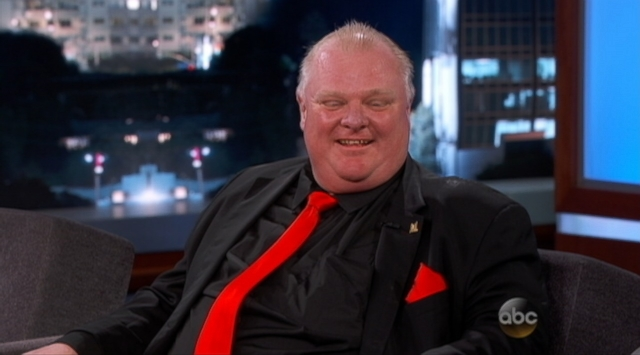 Rob Ford Provides Video Analysis on Jimmy Kimmel Live!