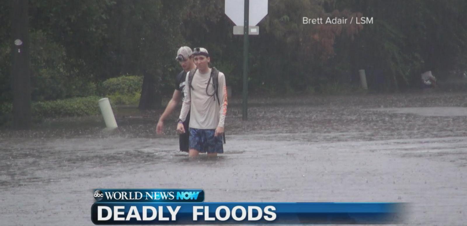 VIDEO: The South Carolina coast battles severe flooding killing 7 people.