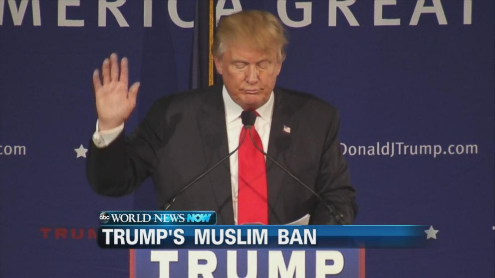 Donald Trump Calls for a Ban of Muslims Entering the US ...