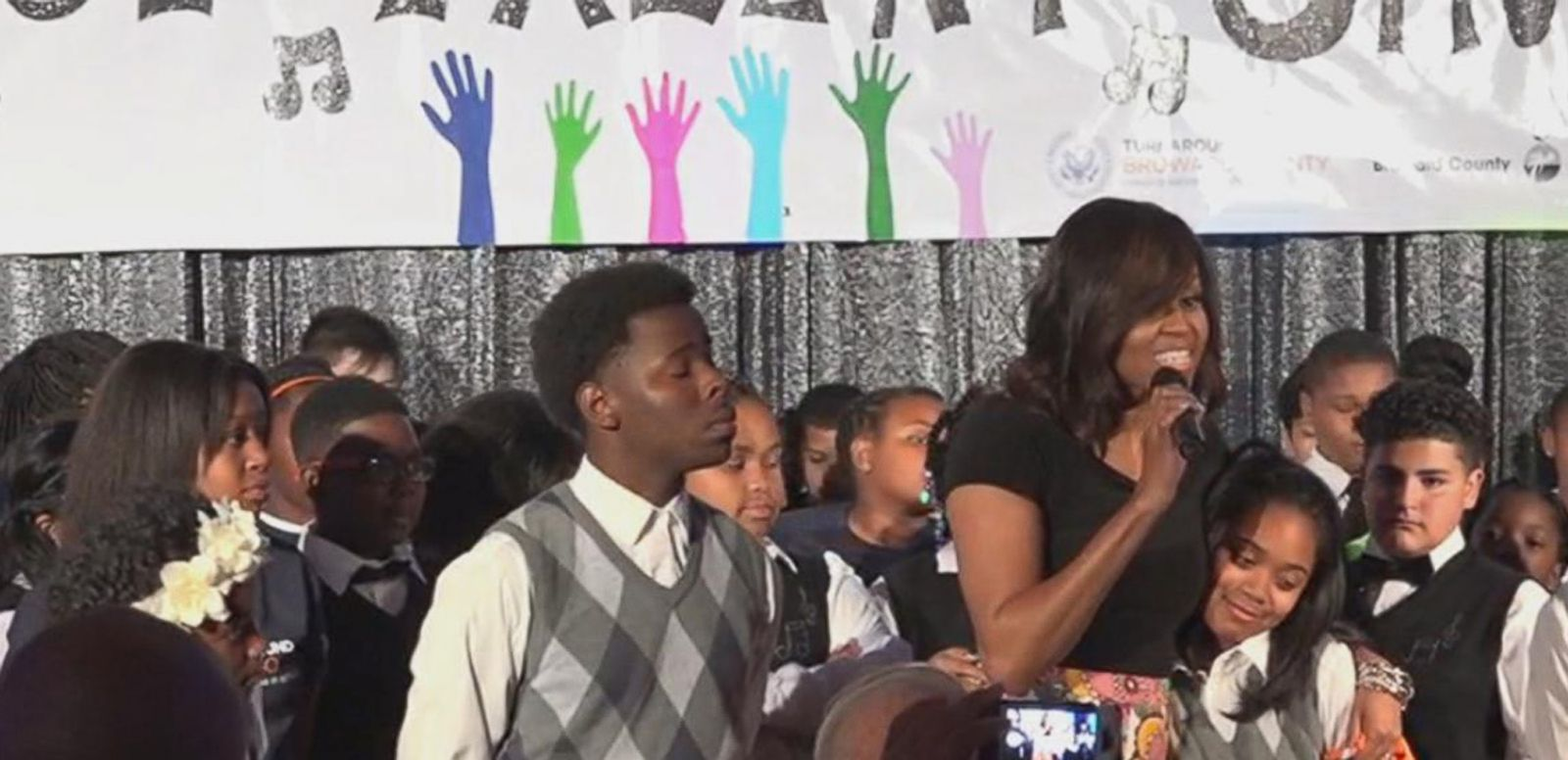 VIDEO: Michelle Obama Hosts Turnaround Talent Show at the White House