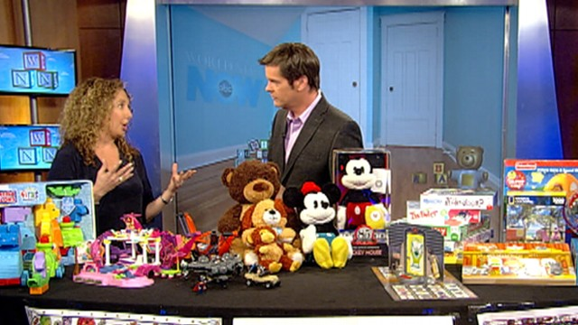 """Toy Insider Mom"" Laurie Schacht shows off some toys for girls and boys."