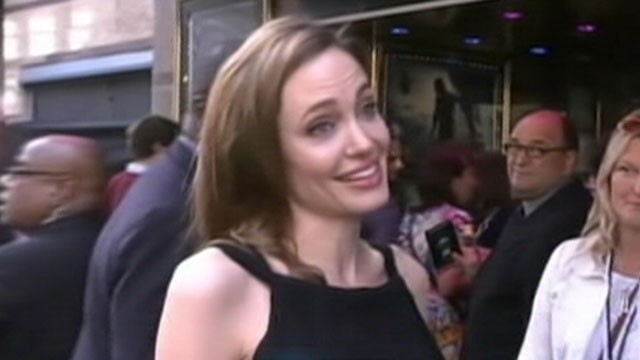 VIDEO: Angelina Jolie made her first public appearance since revealing she had a double mastectomy.