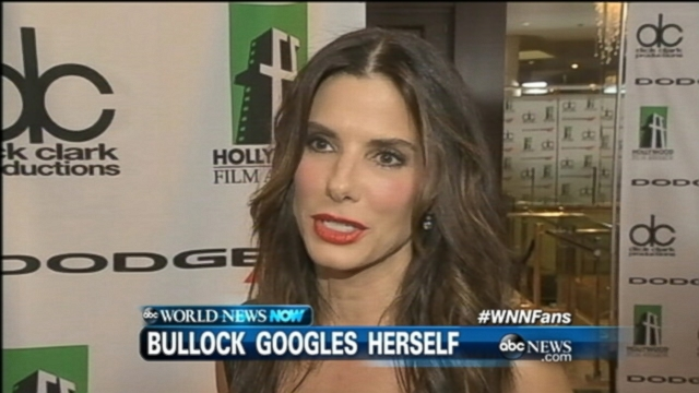 VIDEO: Sandra Bullock plugged her name into Google and found only harsh words.