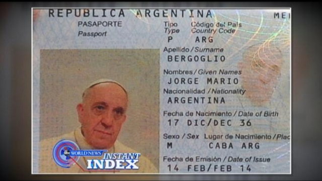 VIDEO: Instant Index: Pope Francis AKA Jorge Bergoglio Gets a New Passport, Just Like Us