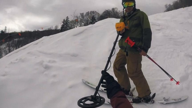 VIDEO: Man Uses Metal Detector to Find Lost iPhone on Slopes