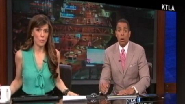 VIDEO: TV Anchors Shaken Up by a Quake