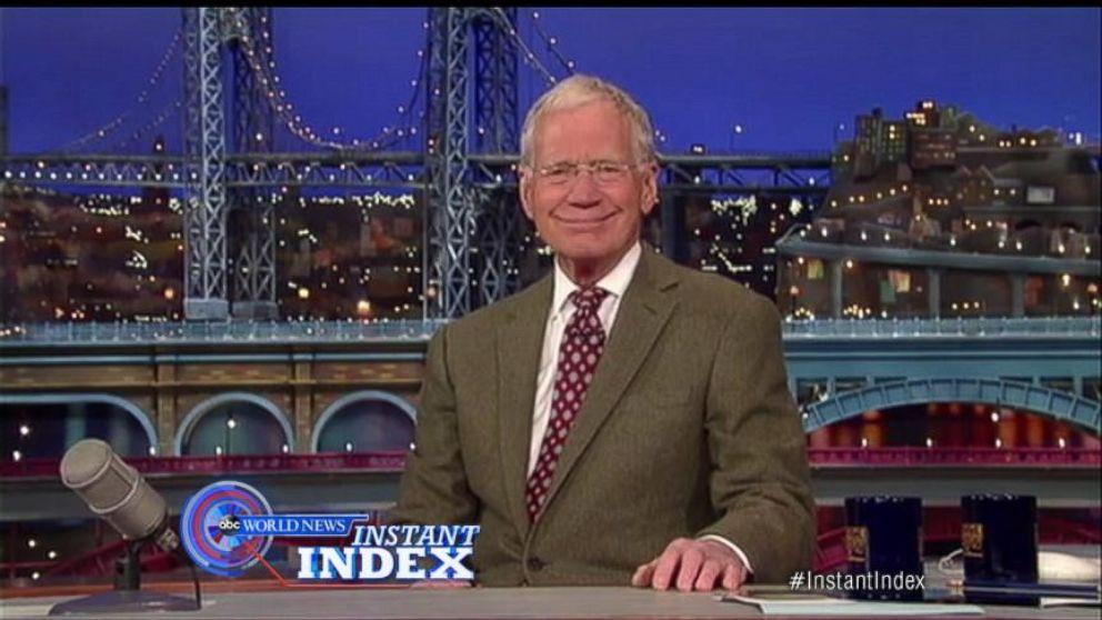 David Letterman Announces Plans to Retire in 2015