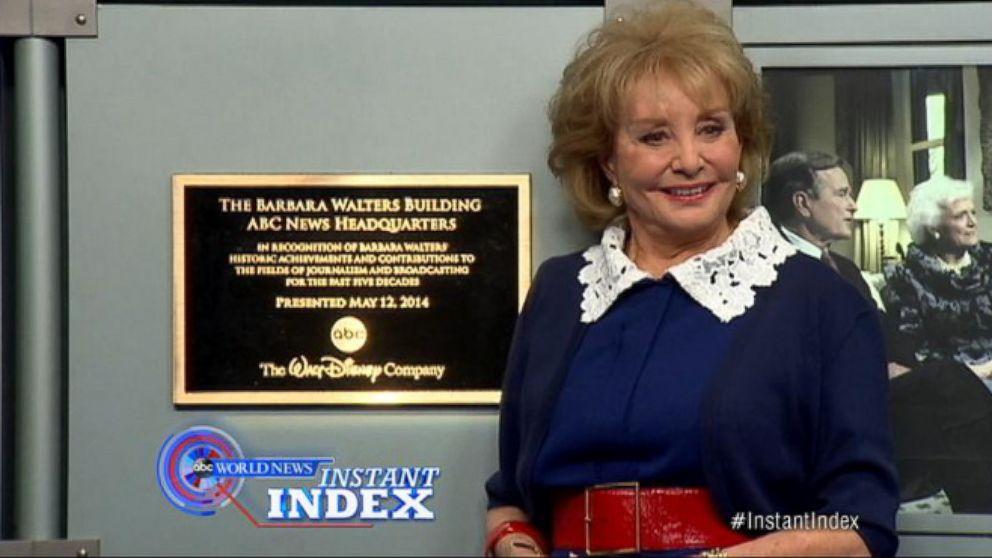 VIDEO: Instant Index: Disney CEO Bob Iger Commemorates Barbara Walters Career