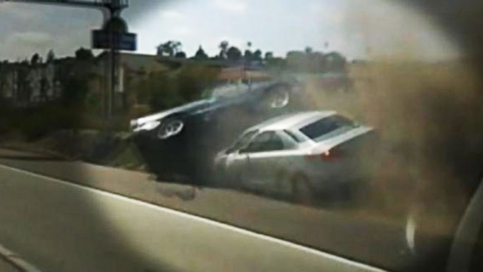 VIDEO: Did Road Rage Cause Two Vehicles to Tumble Off a California Highway?