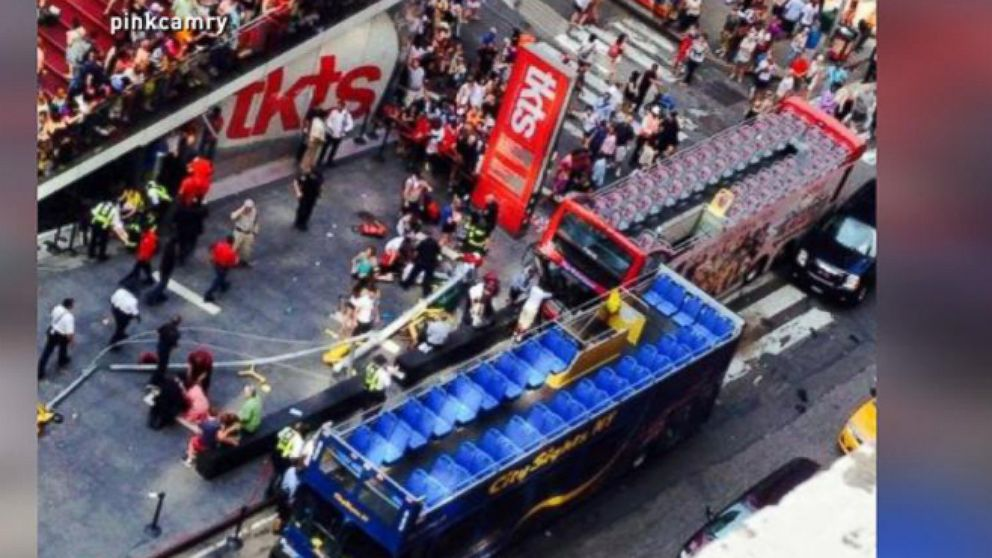VIDEO: 2 Double Decker Buses Crash in NYC
